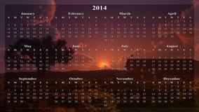 Домашний календарь захода солнца бесплатная иллюстрация