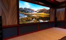 домашний кинотеатр перевода 3D стоковая фотография