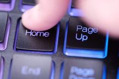 Домашний ключ на клавиатуре Стоковые Фотографии RF