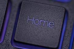 Домашний ключ на клавиатуре Стоковое Изображение RF