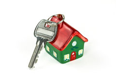 домашний ключ новый к Стоковое фото RF