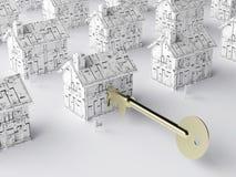 домашний ключ новый к Стоковая Фотография RF