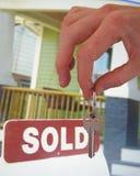 домашний ключ новый Стоковое фото RF