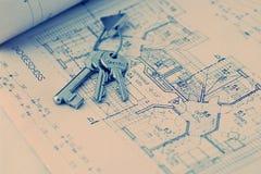 домашний ключ новый Стоковая Фотография