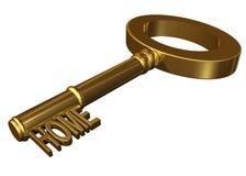 домашний ключ Стоковые Изображения