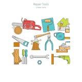 Домашний комплект инструментов ремонта Стоковая Фотография RF