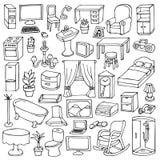 Домашний комплект мебели Стоковое Изображение RF