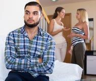 Домашний конфликт среди 3 молодых взрослых Стоковые Изображения