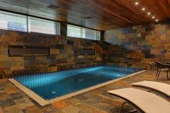 Домашний крытый бассейн Стоковое Изображение