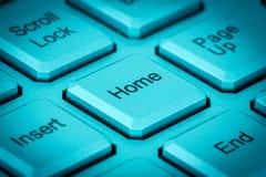 Домашний ключ на клавиатуре Стоковое фото RF
