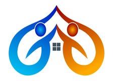 домашний логос бесплатная иллюстрация