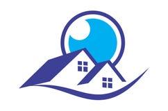 Домашний логотип зрения иллюстрация вектора
