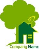 Домашний логотип дерева Стоковое Изображение