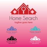 Домашний логотип поиска Стоковое фото RF