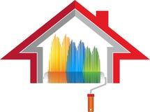 Домашний логотип украшения иллюстрация вектора