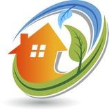 Домашний логотип Eco Стоковое Фото