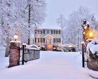 Домашний дом снега Стоковая Фотография RF