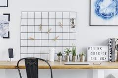 Домашний офис с решеткой металла Стоковое Изображение