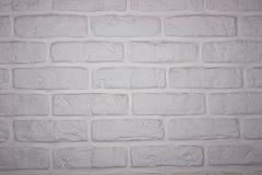 Домашний ручной работы белый дизайн стены Стоковое Изображение