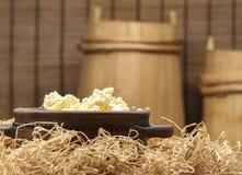 Домашний сыр стоковые изображения rf
