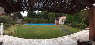 Домашний сладостный дом, панорамная фотография сделанная в Провансали Стоковые Изображения