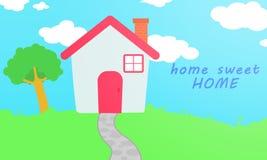 Домашний сладостный дом (простая иллюстрация) Стоковые Изображения
