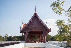 домашний тип тайский Загон слона Таиланда в истории на Ayutthaya стоковое изображение