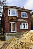 Домашний экстерьер реновации стоковое изображение rf