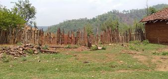 Домашняя граница в деревнях стоковая фотография rf