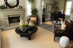 домашняя живущая роскошная комната Стоковые Фото