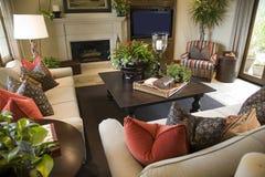 домашняя живущая роскошная комната Стоковые Изображения RF