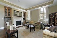 домашняя живущая роскошная комната Стоковое фото RF