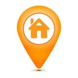 Домашняя икона указателя Стоковое Изображение