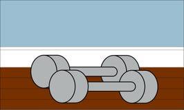 Домашняя иллюстрация гантелей спортзала Стоковое Изображение RF