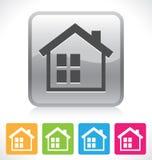 Домашняя кнопка иллюстрация вектора