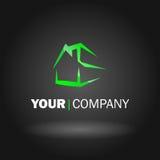 Домашняя конструкция логоса иллюстрация вектора