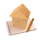 Домашняя концепция бюджета и плана стоковое изображение rf