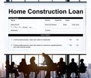 Домашняя концепция формы документа займа конструкции Стоковое Изображение