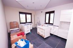 домашняя кухня новая Стоковое Изображение RF