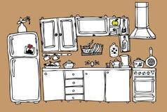 домашняя кухня бесплатная иллюстрация