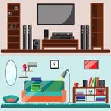 Домашняя мебель Иллюстрация вектора плоская Стоковая Фотография