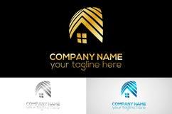 Домашняя металлическая линия логотип стоковое фото