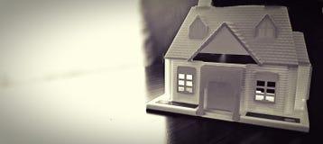 Домашняя модель на таблице Стоковое Изображение