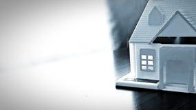 Домашняя модель на таблице Стоковое Изображение RF