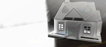 Домашняя модель на таблице Стоковая Фотография RF