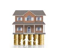 Домашняя модель на монетки Стоковая Фотография RF
