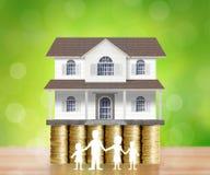Домашняя модель на монетки Стоковые Фото