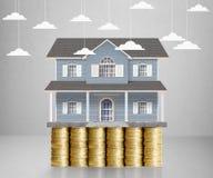 Домашняя модель на монетки Стоковые Изображения RF