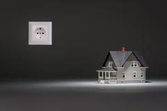 Домашняя модель с гнездом на серой предпосылке Стоковое Фото