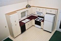 домашняя перспектива кухни малая Стоковые Изображения RF